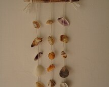 Mini shell mobile-italian sea shells mobile-wind chimes-wind chimes-scacciaspiriti-conchigliera-# 062