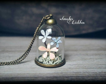 "Necklace glass dome ""Pastel"""