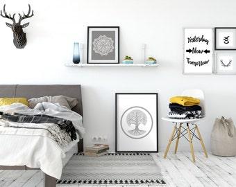Tree Decor, Neutral Wall Decor,Grey Wall Print,Tree Artwork, Grey Wall Art Grey Wall Print, Grey Prints, Minimalist Artwork Print, Nature
