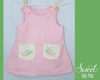 The Priscilla - girls size 2 sundress, a-line, vintage, handmade