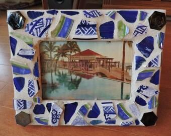 Ocean Blue Mosaic Frame