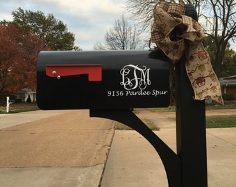 Mailbox Address/Monogram Decal