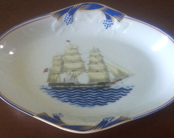 "Mottahedeh Our Maritime Heritage ""Massachusetts"" Side Dish"