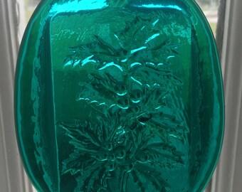 Pressed Glass Holly Suncatcher