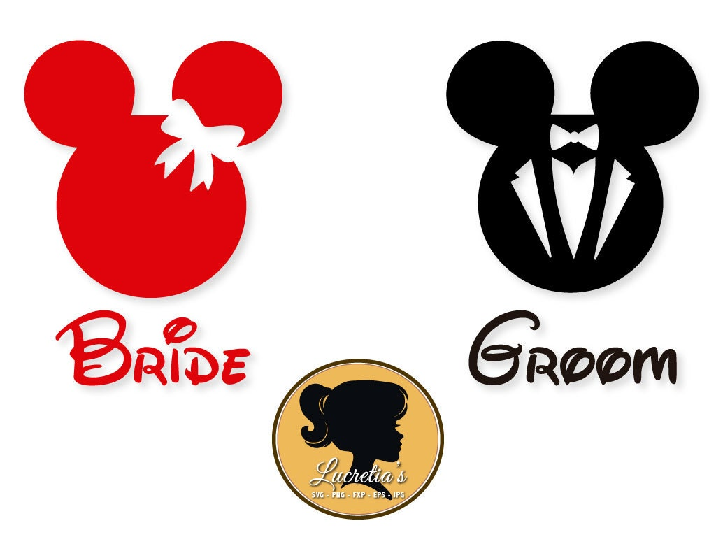 Mickey mouse svg and minnie mouse svgdisneysvg dxf png eps bride and groom svg mickey mouseminnie mouse svg files for silhouette cameo or cricut couple svg vector svg dxf eps biocorpaavc