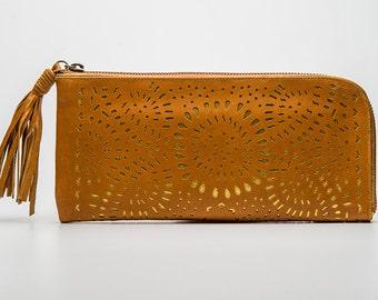 Tan Boho Wallet