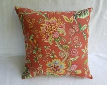Warm Floral Print Pillow