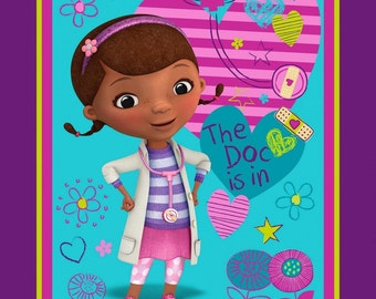 Disney Fabric Panel - Doc McStuffins Fabric Panel The Doc is in 100% cotton fabric by the panel SC656