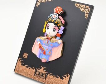 Beijing opera face book ornaments;cute ornaments;a great gift ;small art dolls
