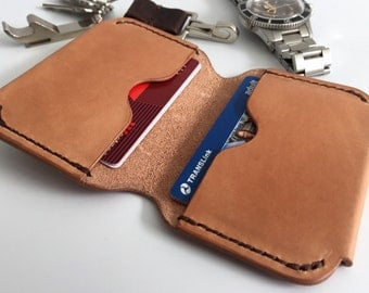 Men's Leather Wallet - 6 Cards + Cash