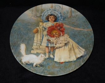"""1982 Hoyle Remember When """"A Surprise for Kitty"""" Collector Plate by Maud Humphrey"""
