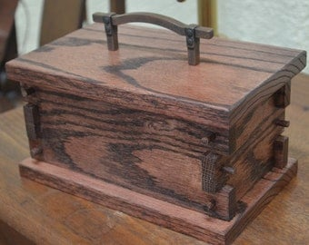 Medieval Treasure Box with Riveted Handle