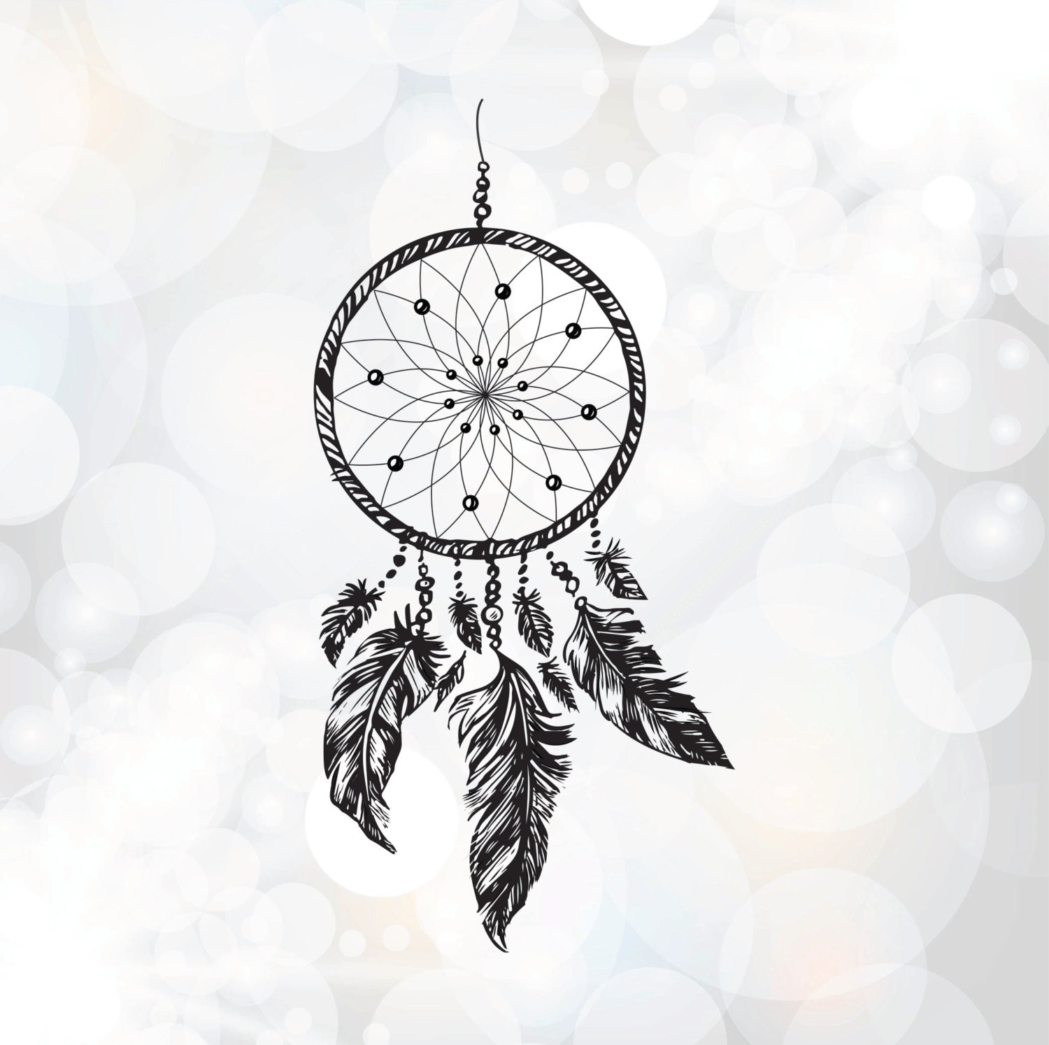 Hand drawn Dream Catcher SVG PNG DXF Eps Cut file for by ...