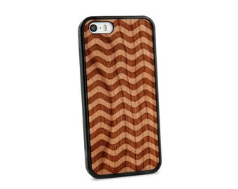 Wavy Chevron Wooden iPhone 5/5S Case for iPhone 5/5S Case