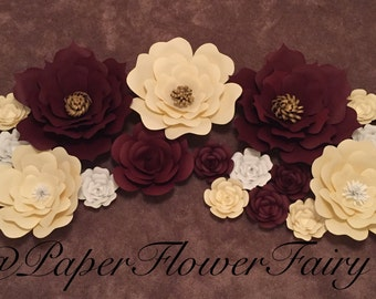 Paper flower decor/backdrop-set of 21