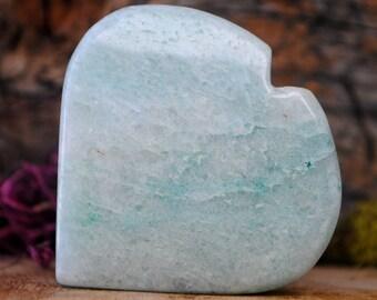 Amazonite Crystal Heart  - 936.81