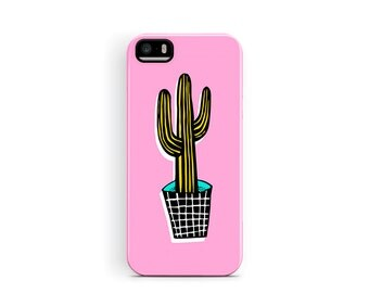 Cactus iPhone 5 Case, iPhone 5s Case, Cactus Phone Case, iPhone SE case, iPhone Cases, Pink Phone Cases, Cute iPhone 5 case, gifts for girls
