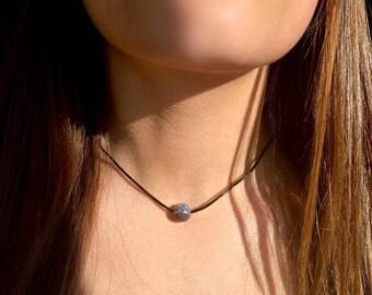 Cosmic Purple Choker Necklace
