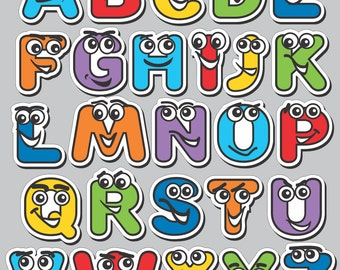 Wall Decor Alphabet Characters - ABC Wall Stickers