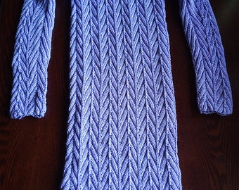 Lilac / Lavender / Light Violet Handknitted Mini Dress 12-14 / M-L