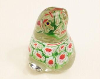 millefiori glass frog