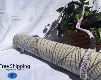 Lavender Rain Yoga Mat Strap