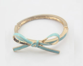 Sky Blue Bow Bangle