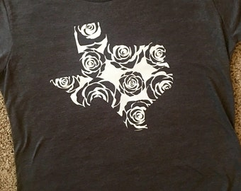 State of Texas Rose Shirt