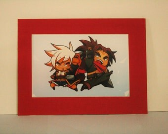 BlazBlue - Mounted print