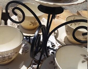 Tabletop China Teacup Birdfeeder or Candleholder