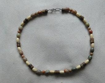 Original one of a kinda handmade mens beaded necklace.