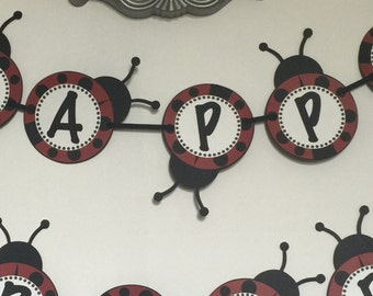 Lady Bug Birthday Banner!