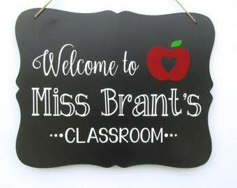 Teacher Gift, Teacher Sign, Gifts for Teachers, Teacher Name Sign, Personalized Teacher Gift, Teacher Appreciation Gift, First Day of School