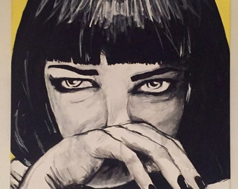 Original Mia Wallace (Pulp Fiction) Painting