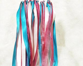 50 Triple Ribbon Wands | Wedding Ribbon Wands | Send off Wands | Wedding Wands | Ceremony Ribbons | Ceremony Wands | Wedding Streamers