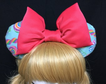 Candyliscous GIANT Bow Sparkle Minnie Mouse Cosplay Ears