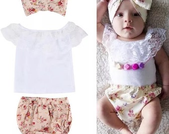 Cute baby girl summer outfit