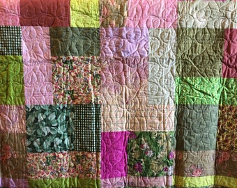 Turning 20 quilt pattern lap size handmade quilt
