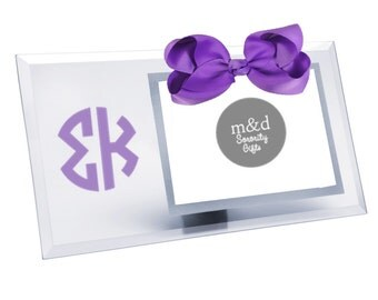 Sigma Kappa Picture Frame | Glass picture frame with or without bow