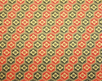 4 sheets A4 Black Red Japan Yuzen Chiyogami Washi Origami Papers 200