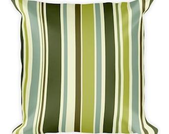 Canopy Stripe Throw Pillow - Green