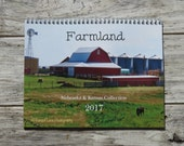 2017 Wall Calendar with Nature Photography 8.5x11.25-made with thick premium cardstock-Featuring Farmland from Nebraska and Kansas