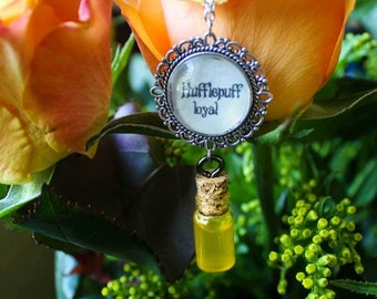 Harry Potter inspired HUFFLEPUFF  Housespride Necklaces |(Ravenclaw, Slytherin, Griffindor or Potions)
