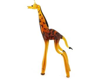 handmade glass figurines Giraffe