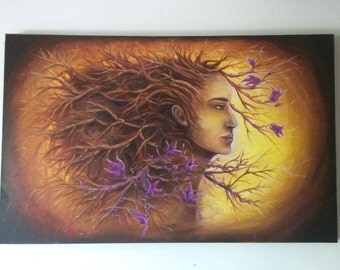 "Tree woman *Original*Oil *48""x30"" *gallery canvass"