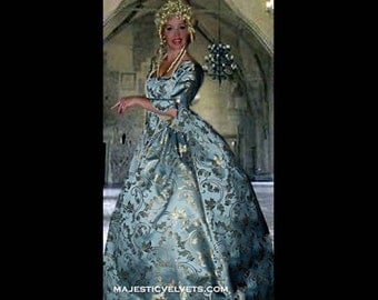 Baby Blue Marie Antoinette 18th c. Dress Halloween Renaissance Medieval Costume Clothes Clothing. Made to fit: Small to Plus Size