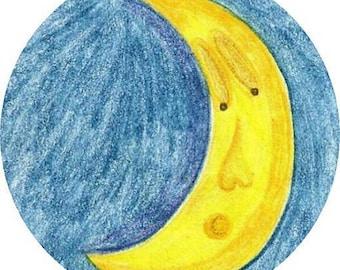 Moon Envelope Seals 24ct