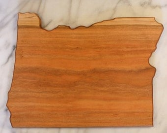 Oregon State Shaped Cutting Board - Cherry