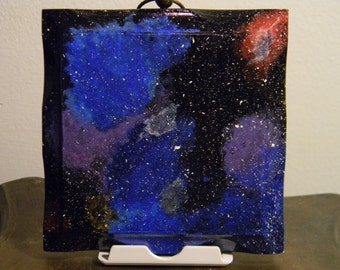 5in x 5in Galaxy Hand Painted Wall Decor