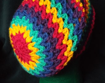 Super Sized Super Slouchy Super Colourful Rainbow Hat